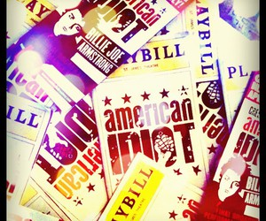 broadway, playbills, and americanidiot image