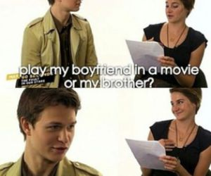 the fault in our stars, ansel elgort, and divergent image