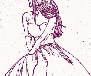 beauty, drawing, and dress image