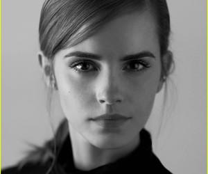 black and white, emma watson, and un embassador image