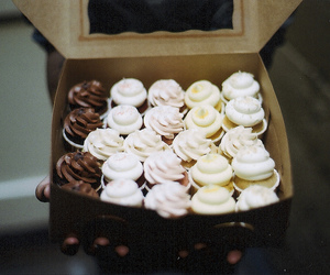 cupcake, food, and vintage image
