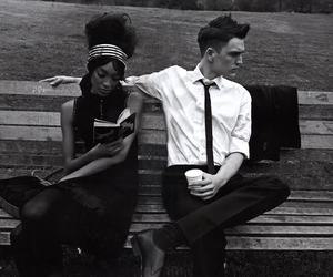 black and white, couple, and josh beech image