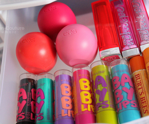 baby lips, eos, and makeup image