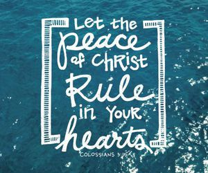 god, peace, and jesus image