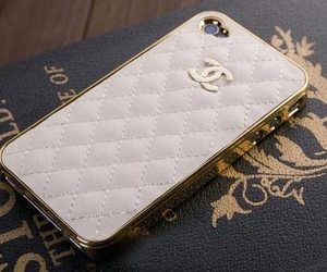 chanel, white, and gold image