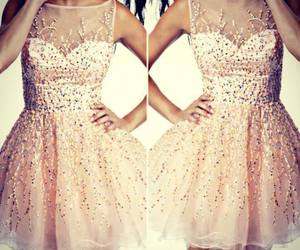 cocktail dress, glamour, and sequin dress image