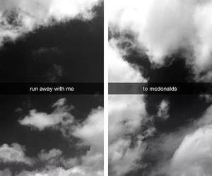away, mac donald, and run image