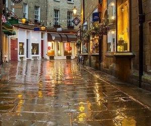 rain, street, and beautiful image