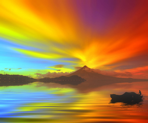 color, rainbow, and water image