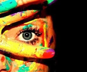 eye, paint, and eyes image