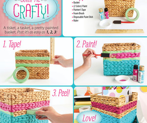 basket, color, and craft image