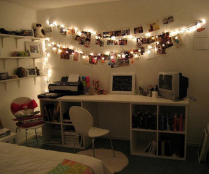 room, bedroom, and lights image
