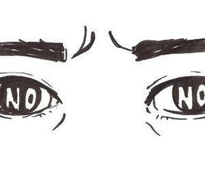 no, eyes, and sad image