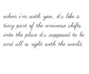 text, universe, and love image
