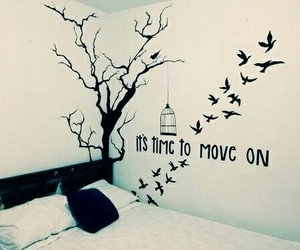 room, bird, and time image