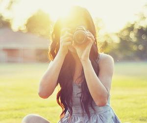 camera, girl, and sunshine image