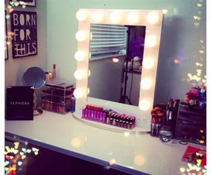makeup, mirror, and make up image