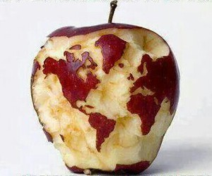 apple, continents, and world image