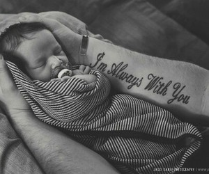 b&w, quote, and baby boy image