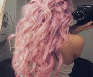 fashion, hairstyle, and pastel hair image