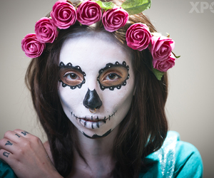 sugarskull and makeup image