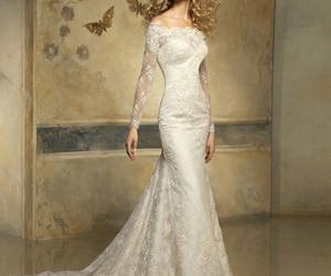 bridal, style, and wedding dress image