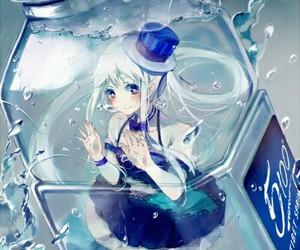 anime, water, and anime girl image