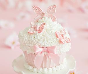 pink, cupcake, and sweet image