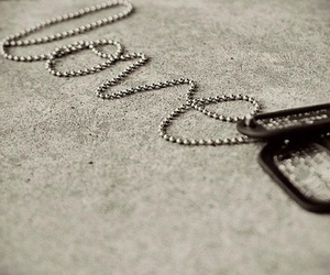 love, dog tags, and military image