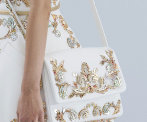 fashion, gold, and white image