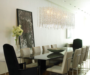 dining room, dining table, and furniture image