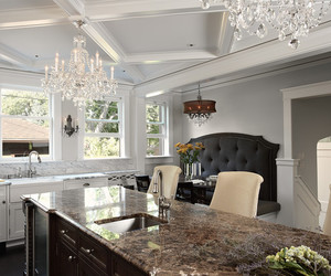 dining room, dark armchairs, and contemporary chairs image