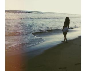 beach, girl, and grunge image