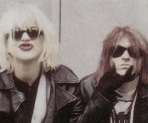 Courtney Love, kurt cobain, and hole image