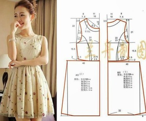 dress and sewing image