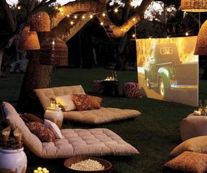 movie, light, and garden image