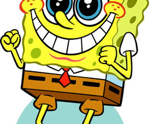 spongebob, smile, and happy image