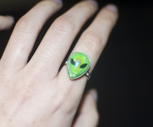 grunge, alien, and ring image