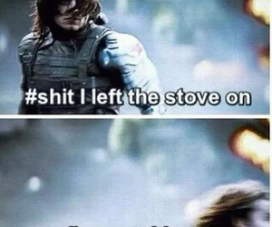 funny, sebastian stan, and winter soldier image