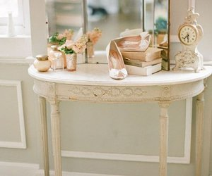 vintage, dressing table, and mirror image
