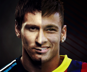 messi, neymar, and football image