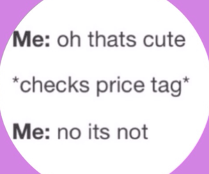 funny, shopping, and price image