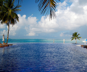 ocean, paradise, and pool image