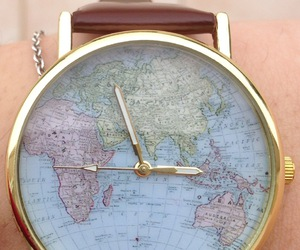 world, watch, and clock image