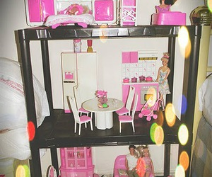 barbie, house, and pink image