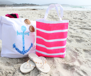 summer, beach, and bag image