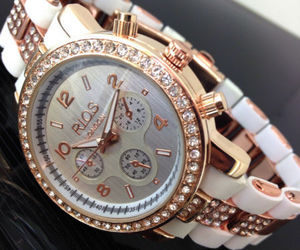 elegant, watch, and rose gold image