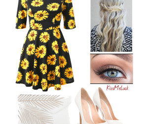 eyes, girly, and outfit image