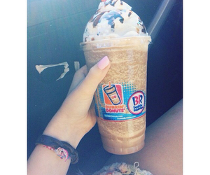 drink, dunkin donuts, and frappe image