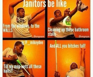 funny, janitor, and lol image